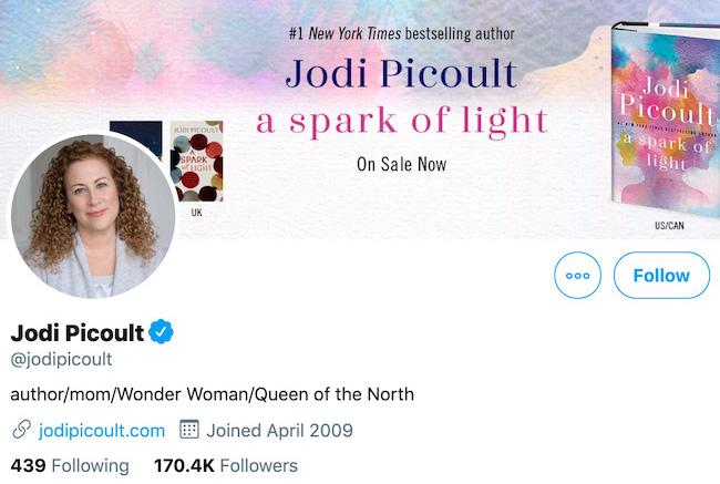 Jodi Picoult Twitter Header