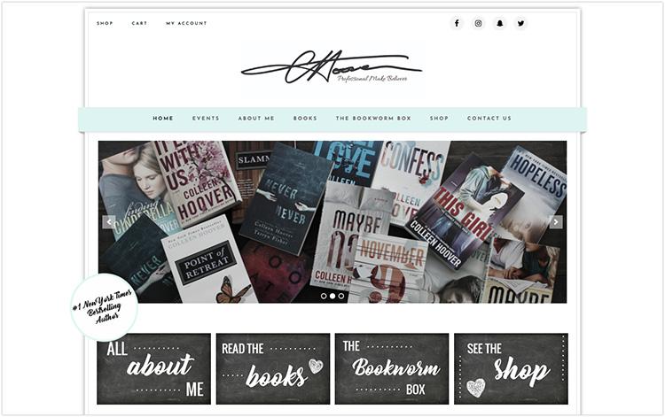 Colleen Hoover author website design