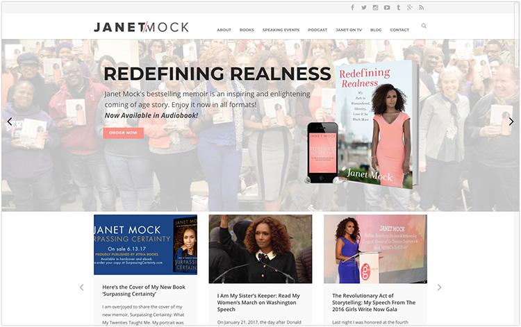 Janet Mock author website design